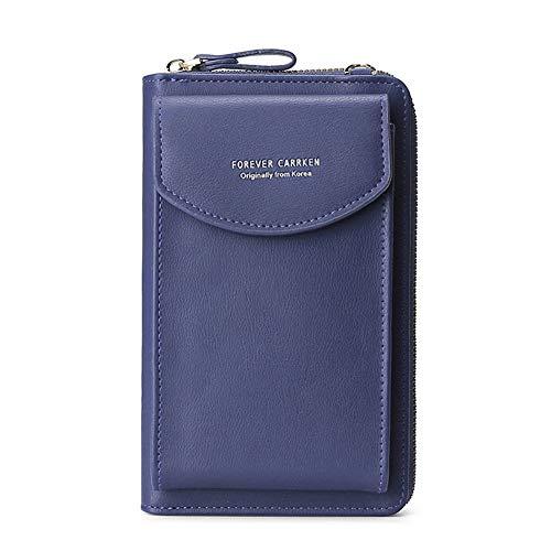 BestTas Damen Handy-Umhängetasche PU Leder RFID Blockierung Handytasche Geldbörse mit Kartenfächer Verstellbar Abnehmbar Schultergurt Passt Handy unter 6,10