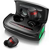 Wireless Earbuds, Bluetooth Earphones 5.0 with CVC 8.0 Noise Cancellation, Qualcomm Tech Stereo in Ear Headphone, IPX7 Waterproof, TWS Built-in Mic Headset with 150H Playtime.