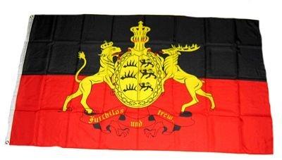 Fahne Württemberg Furchtlos und Treu NEU 150 x 250 cm