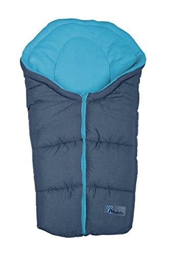 Altabebe AL2009P-42 Winterfußsack Alpin Kollektion für Babyschale, dunkelgrau-blau