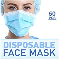 50-Pack Ebeizzi Disposable Respirator-Three Layers Face Mask