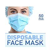 50 Pack - Disposable, Breathable 3 Layer, Earloop