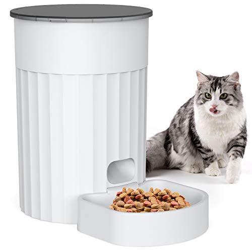 Distributore Automatico di Alimenti, 3L Alimentatore Automatico Intelligente per Gatti e Cani Taglia Piccola, 4 pasti al Giorno(2 modalità di Alimentazione)
