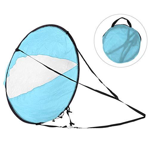 minifinker Vela de Viento Durable del Kayak del tafetán del poliéster, para el Equipo Inflable(Blue)