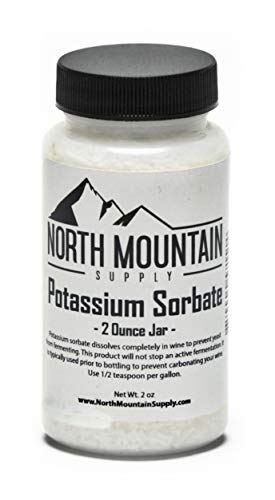 North Mountain Supply Food Grade Potassium Sorbate Stabilizer - 2 Ounce Jar