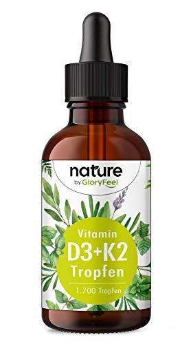 Vitamin D3 + K2 Tropfen 50ml - Premium 99,7+% All-Trans (K2VITAL® von Kappa) + hoch bioverfügbares Vitamin D3 - Laborgeprüft, hochdosiert, flüssig ohne Zusätze in Deutschland hergestellt