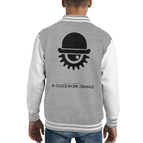 Een Clockwork Orange Hat and Eye Movie Silhouette Kid's Varsity Jacket