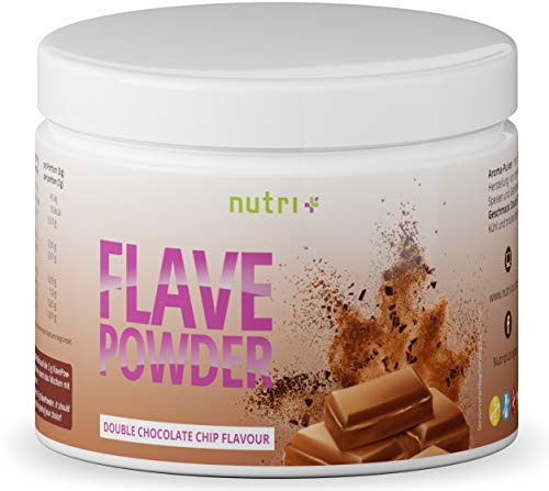 Geschmackspulver Schoko Vegan - Flave Powder 270g - Aroma-Pulver laktosefrei Geschmack Schokolade - Flavour für Lebensmittel, Wasser ohne Zucker, Quark - 10 Kalorien pro Portion