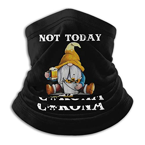 Not Today Cor-ona-vir-us Mask Windproof Scarf Microfiber Neck Warmth Multi-Style Protection Neck UV Protection Balaclava Headdress Scarf Black
