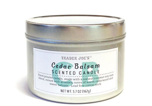 Trader Joes Limited Edition Cedar Balsam Candle