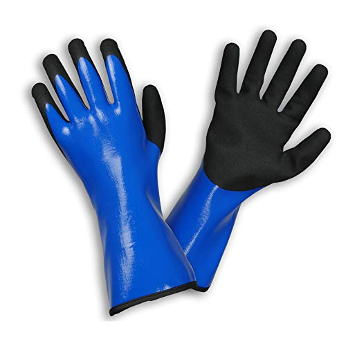 Rostaing LIQUIDO-IT08 Gants Long Multi-Usage 100% Imperméable Nitrile Bleu-Liquido Taille 08 Handschuhe, Schwarz, 8