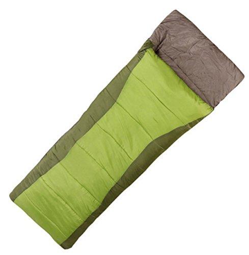 Xin.S Sacs De Couchage En Plein Air Camping Enveloppes Léger Portable Imperméable à L'eau Voyage Confortable Randonnée Activités De Plein Air (bleu Et Vert),Green-195*30*75cm