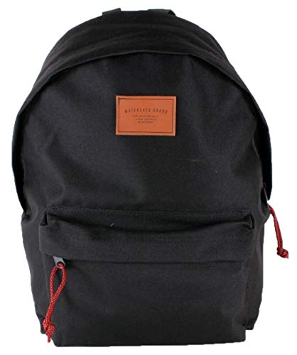 Watershed Mens Union Leather Badge Backpack - Black
