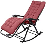FTFTO Office Life Adjustable Sun Lounger Zero-Gravity Seat Commercial Garden Rocking Chair Garden Chair for Outdoor Garden Deck Chairs Patio Supports 240 Kg