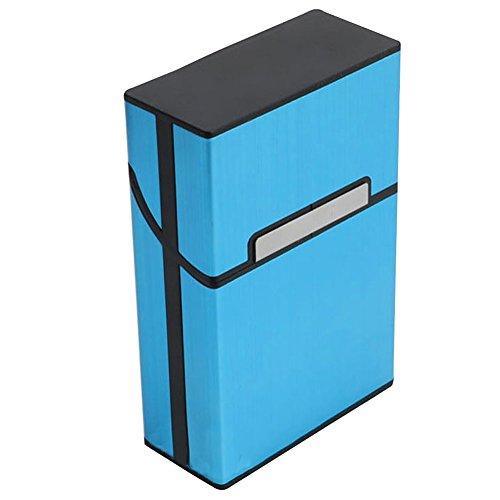 Blue Vesse Neue Blaue Aluminiummetall Tabak-Zigaretten-Taschen-Speicher-Zigarre-Kasten-Kasten-Halter