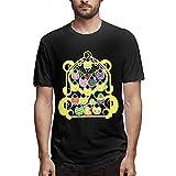 Assassination Classroom Men's Crew Neck T-Shirts Casual Tops tee Black Yoga Cotton Camisetas y Tops(Medium)