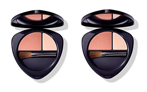 Dr.HAUSCHKA–Blush Duo 01Soft Apricot 2Packungen 5,7g, Rouge 100% Natur, Pigmente Mineralien, Pflanzen Extrakten Officinali