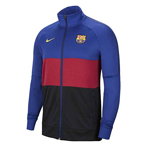 NIKE FC Barcelona Temporada 2020/21-FCB M NK I96 ANTHM TRK JKTCI9248-455 Chaqueta, Unisex, Deep Royal Blue/Noble Red/Amarillo no spon-Home