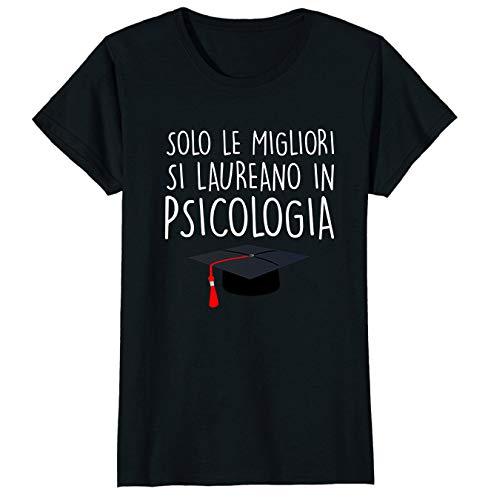 fashwork Regalo Laurea Maglietta Donna t-Shirt Divertenti Solo Le Migliori Si Laureano in psicologia
