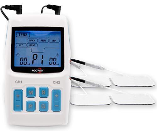 EMS TENS 3-en-1 | unidad de corriente de estimulación con 34 programas para el tratamiento del dolor| estimulador muscular