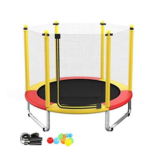 Trampoline, 150 cm fitness-vouwtrampoline met binnen- en buitenbeschermingsnet, geschikt voor kinderen en volwassenen vanaf 8 jaar, gewicht: 250 kg.