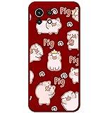 Funda Silicona Líquida Roja para Xiaomi Mi 11 Lite 4G / 5G diseño Cerdos Dibujos