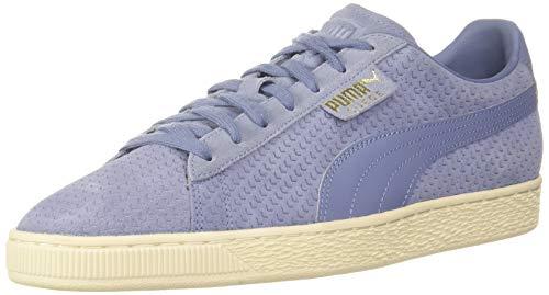 PUMA Herren Suede Classic Perforation Sneaker, Blau (Blau/Weiß Blau/Weiß), 40.5 EU