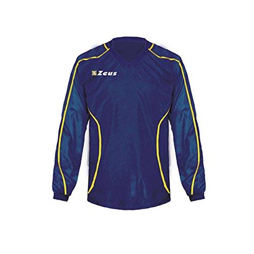 Zeus K-Way Eko Fauno Impermeable Chaqueta Unisex Chaqueta de lluvia Chaqueta de viento Fútbol Sport Rain Colour Azul Amarillo (M)
