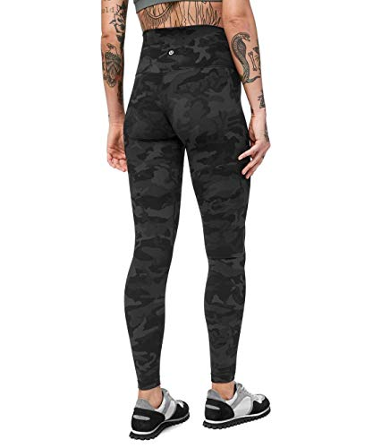 Lululemon Align Stretchy Full Length Yoga Pants - Women's Workout Leggings, High-Waisted Design, Breathable, Sculpted Fit, 28 Inch Inseam, Heritage 365 Camo Deep Coal Multi, Size 8