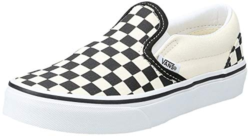 Vans UY Classic Slip-On (Checkerboard) Black/White VN000ZBUEO1 Kids 1.5