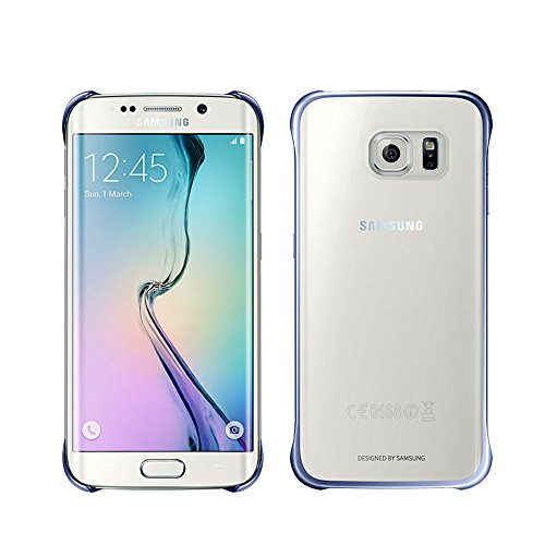 Samsung Slimline Clip-On Hülle Clear View Case Cover für Samsung Galaxy S6 Edge, dunkelblau