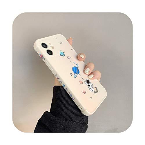 Funda de silicona suave para iPhone 11 Pro 12 Mini X XR XS Max SE 2020 Planet Star Bumper On 7 8 Plus a prueba de golpes T4-para iPhone 7