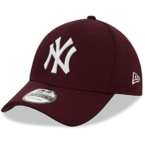 New Era Diamond Era 9Forty NY Yankees - Gorra Ajustable, Color Gris Oscuro, Hombre, Gorra para Hombre, 12523905, Berenjena, Talla única