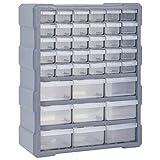 vidaXL Organizador Multicajones con 39 Cajones Herramientas Armario Almacenamiento Taller Pared Caja Manualidades Artesanía Costura Clavos