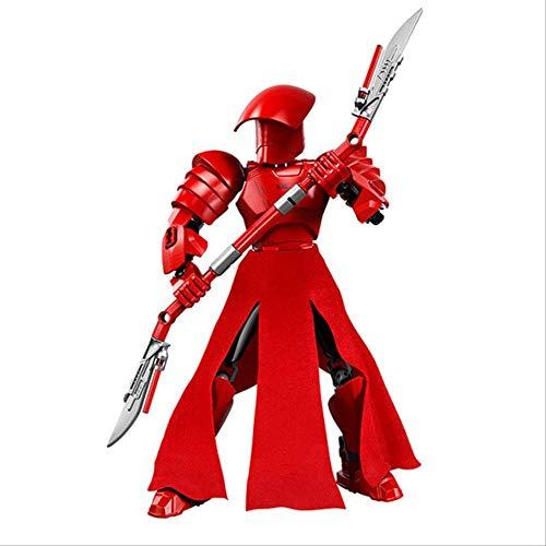 WJRAY Figura De Acción Star Wars Luke Leia Darth Vader Maul Sith Malgus Han Solo Jawas Ewok Yoda Rey Building Blocks Juguetes para Niños Guardia Pretoriana