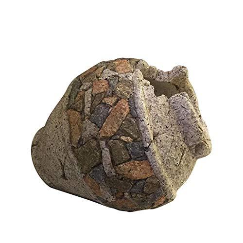 HTI-Line Pflanzgefäß Stone Amphore Deko Krug Pflanztopf Gartendeko Kieselstein-Optik Übertopf Rustikal Skulptur