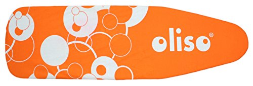 Oliso Standard Size Ironing Board Cover, 100% Cotton, 54 Inch by 15 Inch, Orange