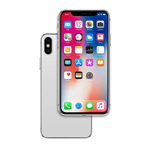 Raytonee - Telefono contraffatto, modello metallico [2nd G] con display Dummy non funzionante, giocattolo per telefono cellulare X 10 (schermo del menu argento)