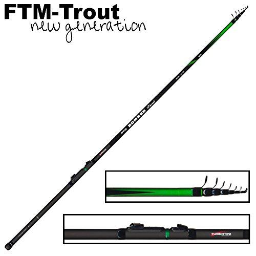 FTM Bomber Trout 1 4m 3-10g - Forellenrute zum Tremarella Angeln, Angelrute zum Sbirolinoangeln, Sbirolinorute, Teleskoprute