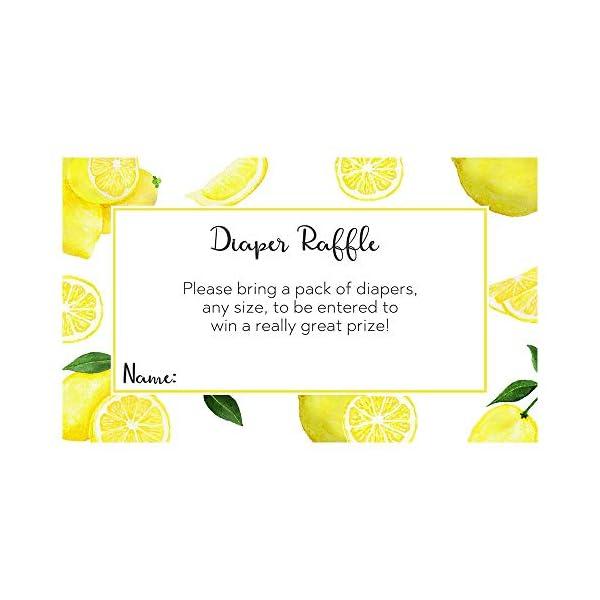 Lemonade Baby Shower Diaper Raffle Ticket Lemon Theme Diaper Party Raffle Printed Insert Cards Squeeze (25 Count)