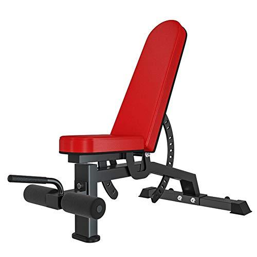 PeiQiH Home Gym Einstellbar Hantelbänke,Professionell Kommerziell Hantelbank,Abdominal Trainer Level Sit-ups Bank Für Bauchtrainer Rot 300kg Belastbar