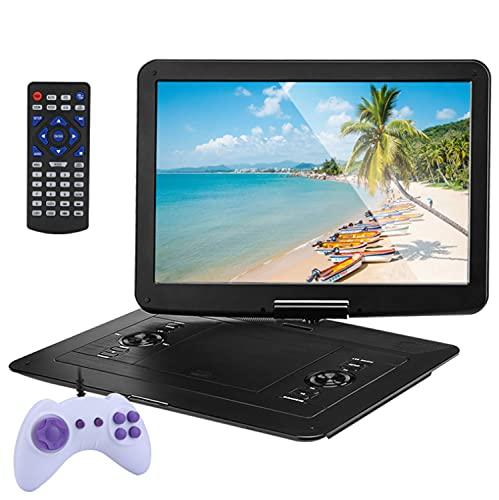 FCDWHJ 25'Reproductor de DVD portátil con 15.6' Pantalla de Alta definición HD Ultra-Thin / 270 ° Reproductor de DVD portátil de Pantalla giratoria Grande para niños Support USB SD SIN Sync TV