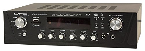 LTC ATM7000USB stereo versterker met digitale tuner, 2 x 50 W