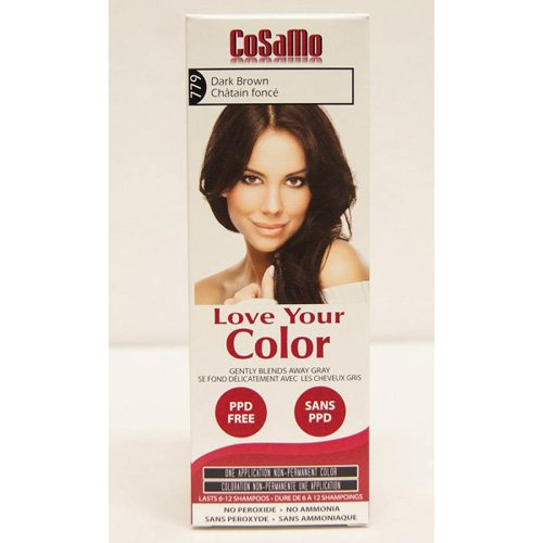 CoSaMo Love Your Color Hair Color 779 Dark Brown (Pack of 3)