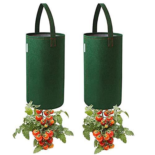 NIEUWE Tomatenkweekzak, 2 stuks Hangende Tomatenplanter Kweekzakvilt, Tomaten Zaaipot Zaden Zakje voor het planten van groenten Kas Buiten Tuin