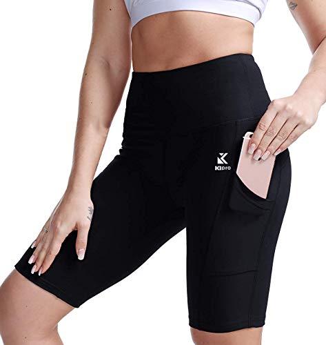 Kipro Damen Shorts Sport Yoga Kurze Hose Sweatpants Laufshorts Baumwolle