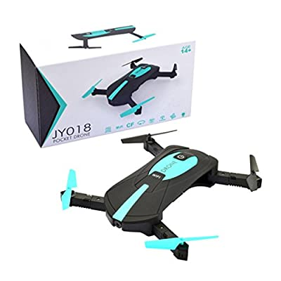 QUINTRA JY018 WiFi FPV Quadcopter Mini Dron Foldable Selfie Drone RC Drones With 720P HD Camera (BLACK)