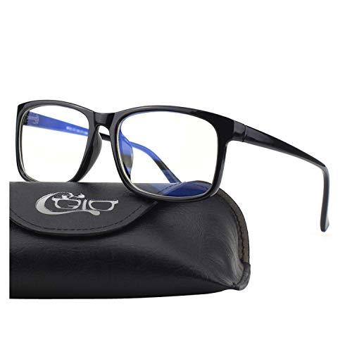 CGID CT12 Occhiali Luce Blu Occhiali per Blocco Luce Azzurra, Anti Riflesso Anti Affaticamento Bloccano il Mal di Testa e lo Stress Oculare, Occhiali di Sicurezza per Computer Telefono