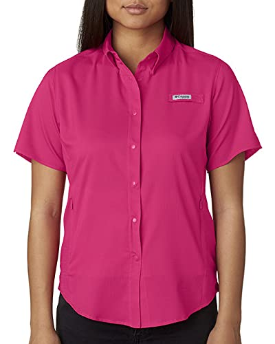 Columbia Tamiami II T-Shirt à Manches Courtes pour Femme Rose Vif Taille S