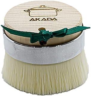 AKADA キッチンブラシ 食器洗い たわし スポンジ 傷防止 極細アクリル繊維 豚毛 ひのき 衛生的 サステナブル 【フライパン ざる まな板を洗うのに最適】